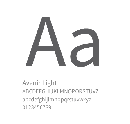 Font used
